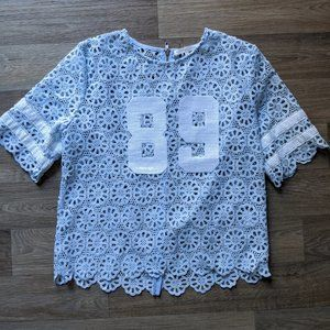 Lace Football Jersey top